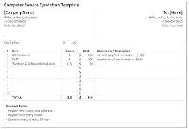 Quote Spreadsheet Template Quotation Spreadsheet Template