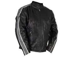 hot leathers men s leather jacket with arm stripes we are an authorized retailer for hot leathers