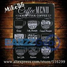 buy vintage metal sign coffee menu mike86 pub art wall decor at barzz bar gear for only 24 99 on vintage menu wall art with buy vintage metal sign coffee menu mike86 pub art wall decor at