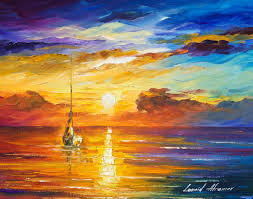 lonely sea 2 original oil painting on canvas by leonid afremov 20 x16