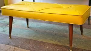 Diy Mid Century Modern Dining Table Yellow Tufted Mid Century Modern Bench Mid Century Modern