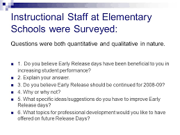 School Survey Questions Early Release Survey Report To The School Board February Ppt Download