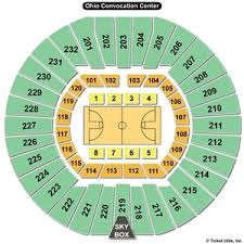 The Venue Athens Ohio Seating Chart Ohio Convocation Center Seating Charts