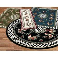 round rooster rugs round kitchen rugs wonderful rooster kitchen mat with rugs french country ideas images