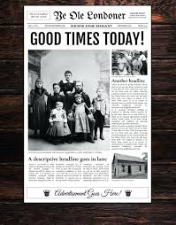 Newspaper Template Free Google Docs School Newspaper Template Free Middle Front Page 4 Column