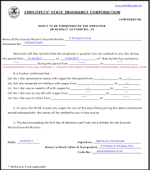 Sample Filled Esic Form 10, How To Fill Esic Form 10