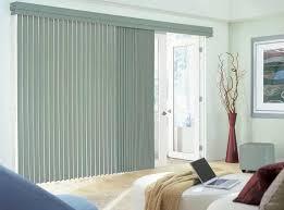 vertical gray sliding glass door blinds