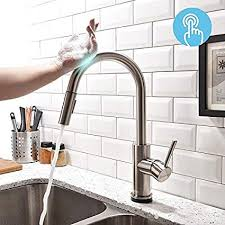 Touch kitchen faucets Touch Activated Forious Touch Kitchen Faucets With Pull Down Sprayer Kitchen Sink Faucet With Pull Out Sprayer Amazoncom Forious Touch Kitchen Faucets With Pull Down Sprayer Kitchen Sink