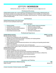 create my resume sample of a medical assistant resume