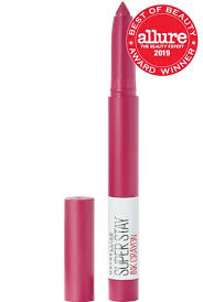 Maybelline 24 Hour Lipstick Colour Chart Superstay Ink Crayon Pink Lipstick By Maybelline