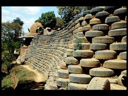 tire retaining walls earthship biotecture