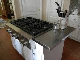 an affordable stainless steel kitchen island countertop