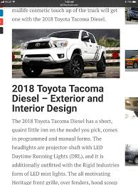 Will 2018 Tacoma have a V8 option with TRD Sport? | Page 2 ...