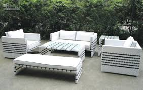 patio furniture white. Wicker Garden Furniture Sets Wholesale Outdoor Buy Black Strip White Rattan Sofa Set Patio I