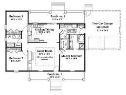 One Story Ranch House Plans  Country House Plan First Floor Single Level House Plans