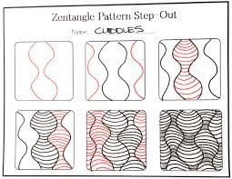 How To Draw Patterns Adorable How To Draw The Zentangle Pattern Cuddles With Shading And A