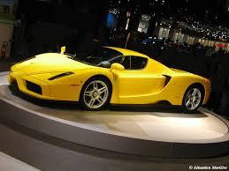ferrari enzo 2013 wallpaper. yellow ferrari enzo auto show car picture 2013 wallpaper