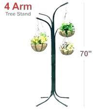 diy outdoor hanging plant stand wooden indoor shelf pole decor 4 arm patio flower garden