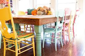 stylish design dining room table with diffe colored chairs brilliant colorful dining room chairs colorful dining