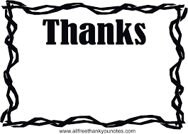 Thank You Black And White Twig Border Thank You Card Free