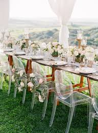 modern acrylic furniture. Romantic Wedding Ceremony Decoration Ideas With Acrylic Chairs Modern Furniture E