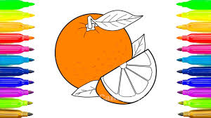 fruit coloring pages learn names of fruits coloring book learn colors teach colours baby