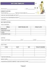 Child Care Receipt Daycare Forms Template Selftherapy Info