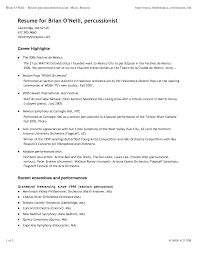 Free Musician Resume Template Transform Musical Theatree Example Also High School Image Gallery 30