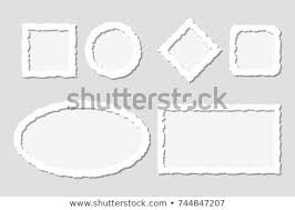 Paper Frames Templates Set White Torn Paper Frames Shadowsdifferent Royalty Free