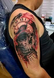 Tetování Tresh Lebka Tetování Tattoo