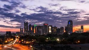 Downtown Dallas Purple Lights Pinterest