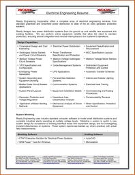 Electrical Engineering Resume Format Nguonhangthoitrang Net