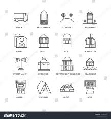 Set 16 Simple Line Icons Such Stock Vector Royalty Free 1167093793