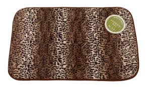 cheetah faux fur bath rug