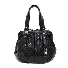 add to my lists io pelle italian designer black patent leather satchel handbag