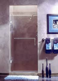 single shower height hinged door 3 8 frameless tempered heavy glass solid brass professional hardware 6 or 8 c c handle 90 degree outward opening