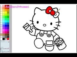 Hello kitty, kitty, animal, cat. Hello Kitty Coloring Pages For Kids Hello Kitty Coloring Pages Games Youtube