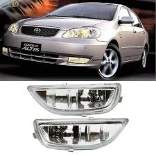 Superfastracing Clear Lens Front Bumper Driving Fog Light Lamp For 2001 2002 Toyota Corolla