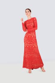 Rent Tadashi Shoji Long Sleeve Embroidered Gown In Dubai