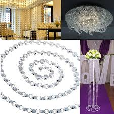 14mm clear crystal diamond prisms octagon beads wedding chandelier parts
