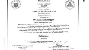 Sample School Certificate DepEd Quezon City Sample Junior High School Certificate TeacherPH 1