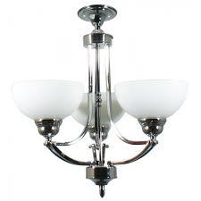 houston 3 arm ceiling light chrome finish