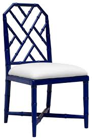 bamboo dining chairs. Fontaine Hollywood Regency Blue Bamboo Dining Chair Chairs A