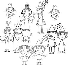 Disegno Dei Personaggi De Il Piccolo Regno Di Ben E Holly Da Colorare