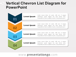 Chevron Organizational Chart 2018 Vertical Chevron List For Powerpoint Presentationgo Com