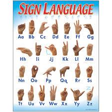 Sign Language Chart Sign Language Learning Chart