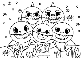 Here, we have baby shark fingerlings coloring pages, free and downloadable. Free Printable Baby Shark Coloring Pages For Kids