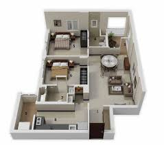 Small Picture 25 More 2 Bedroom 3D Floor Plans