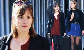 Dakota Johnson bonds with teenage sibling Grace on casual day out | Daily  Mail Online