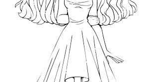 Anime Coloring Pages Girl Werewolf Girl Coloring Pages Worksheet